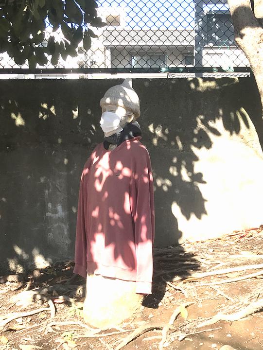 寒いから服を着せた気持ちも、新型コロナウイルス感染層騒ぎの最中ですしマスクをさせたい気持ちもわかります。が、これは何でしょうか。
