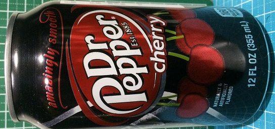 Dr.PepperCherryドクターペッパーチェリー。ドクターペッパー自体が好みが分かれるのに、さらにチェリー。